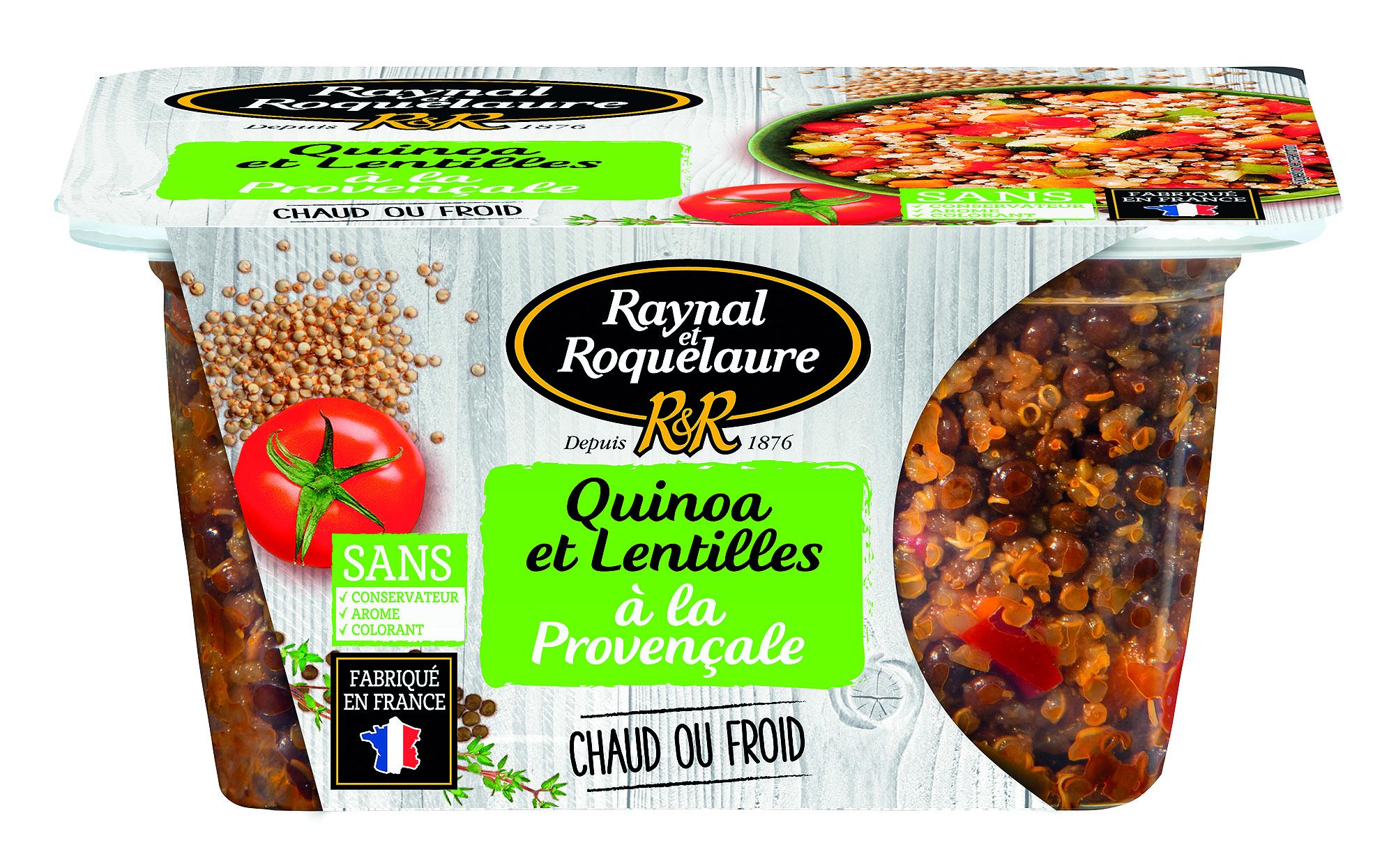 3021690028256 boite transp quinoa lentilles 300 - Raynal et Roquelaure mise sur la transparence pour réinventer ses conserves