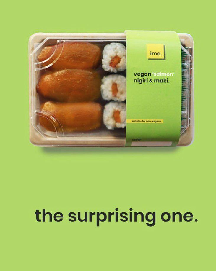 380783 1 800 - Des sushis avec du saumon à base de plantes