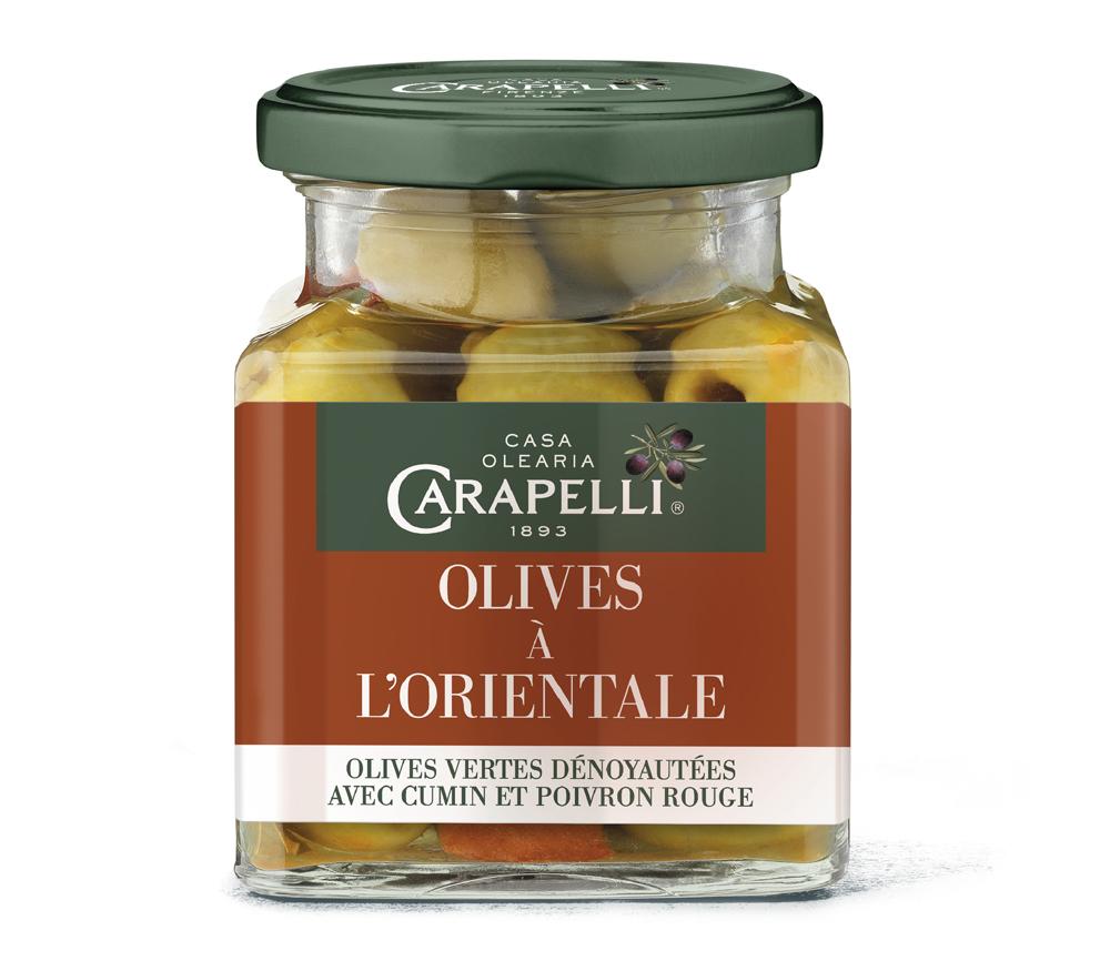 Orientale - Carapelli propose ses olives aromatisées pour l'apéritif