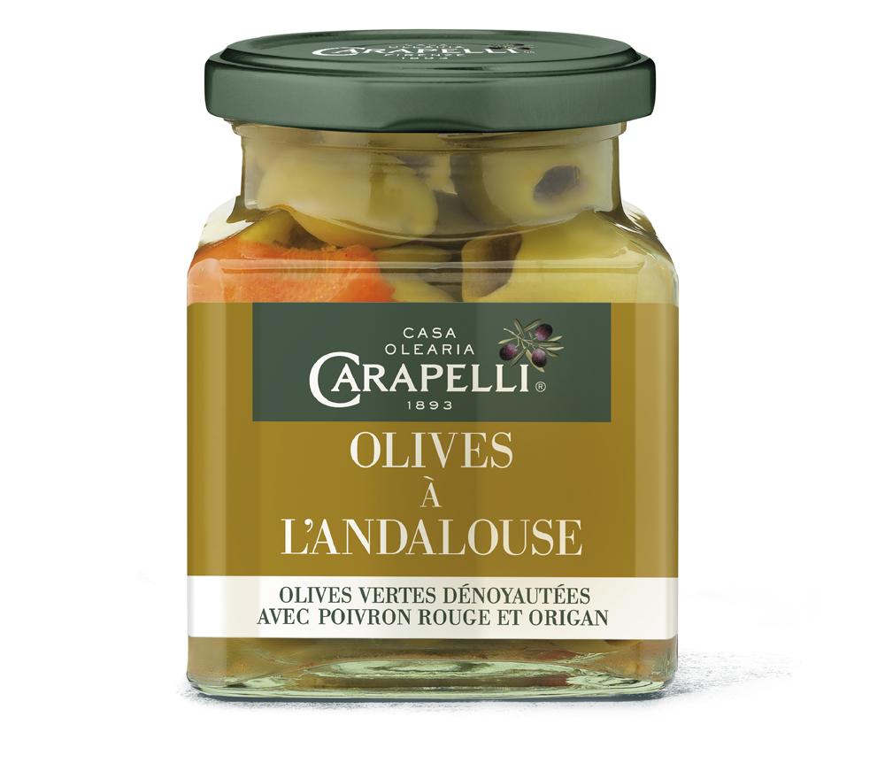 andalouse - Carapelli propose ses olives aromatisées pour l'apéritif