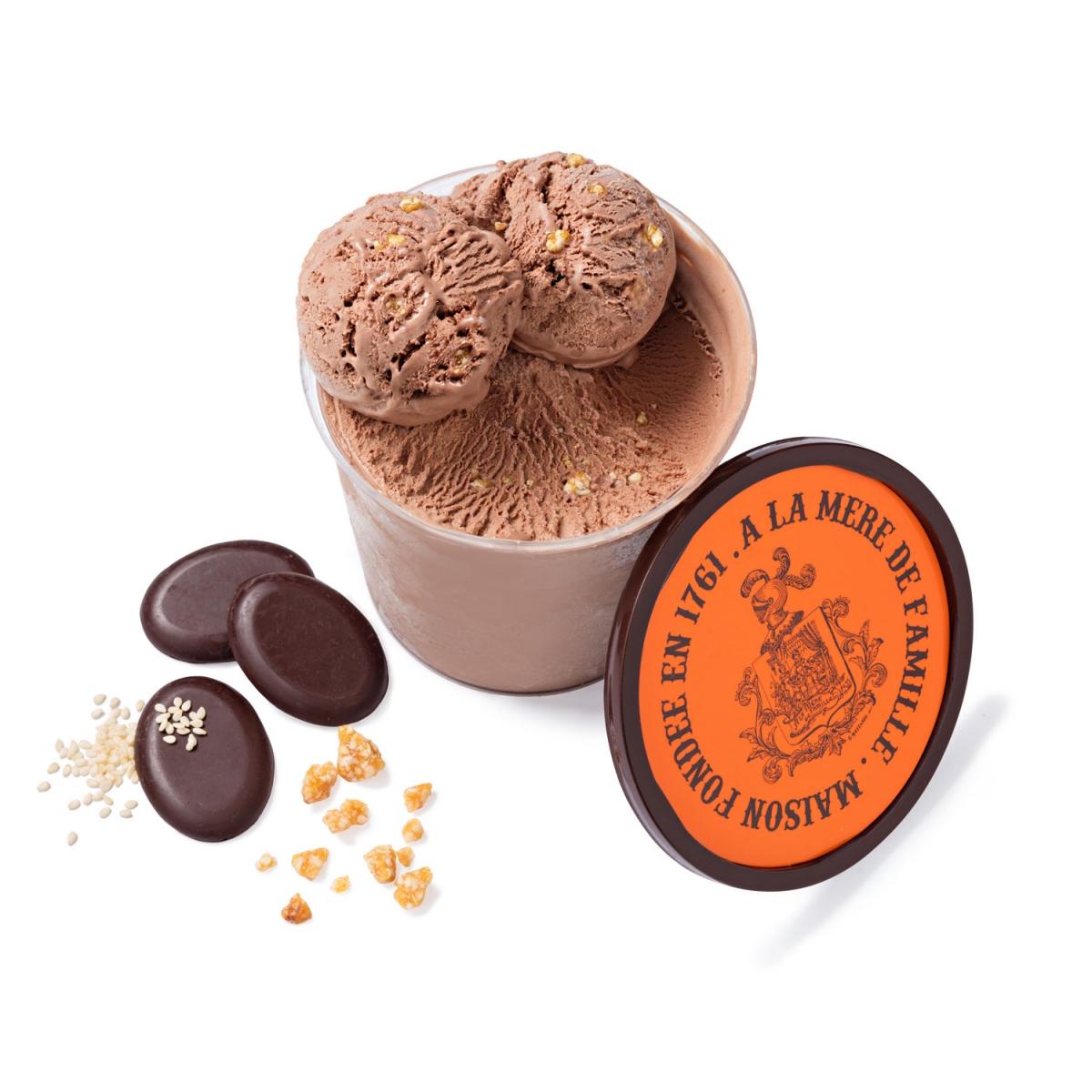 glace chocolat venezuela 70 sesame blanc nougatine - Le plus ancien chocolatier de Paris a imaginé de nouvelles recettes de glaces