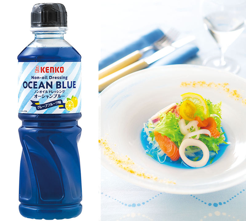 kenko ocean blue - Une sauce salade couleur bleue océan