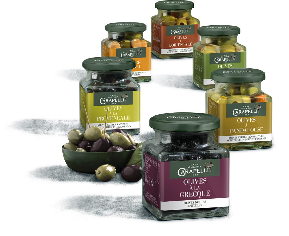 olives - Carapelli propose ses olives aromatisées pour l'apéritif
