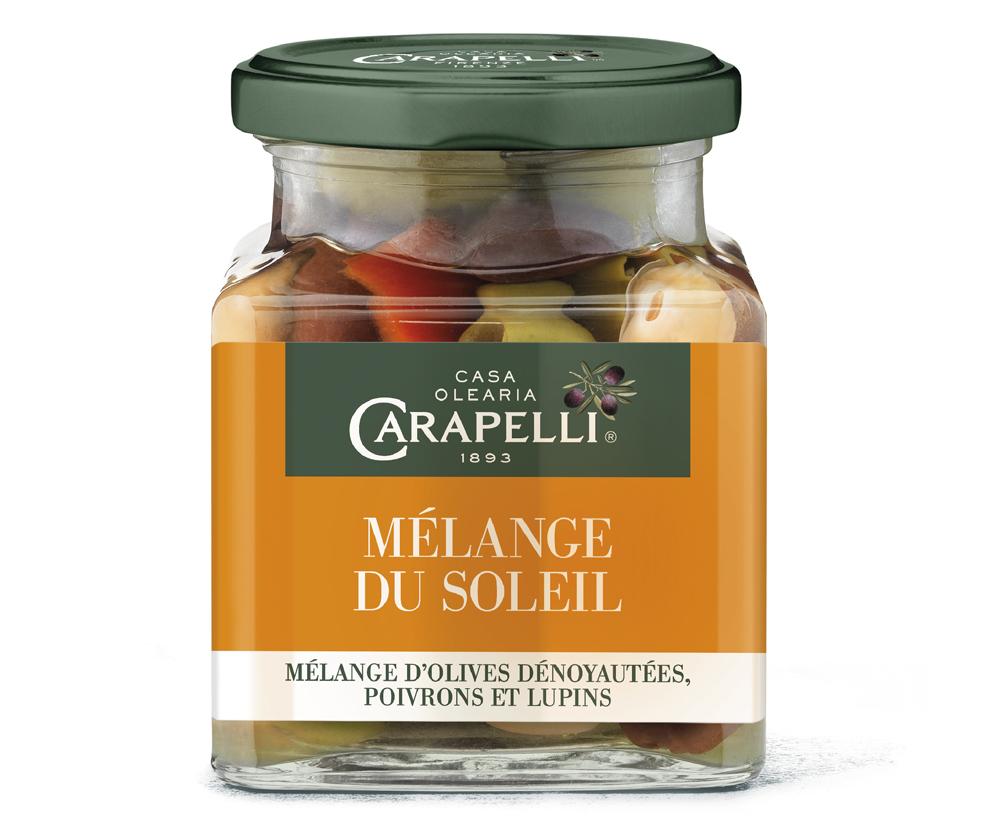 soleil - Carapelli propose ses olives aromatisées pour l'apéritif