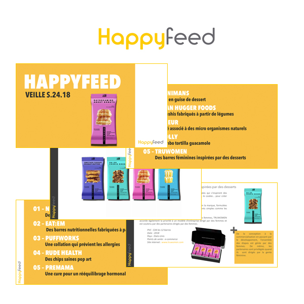veille - Les 5 nouvelles innovations alimentaires défrichées par Happyfeed