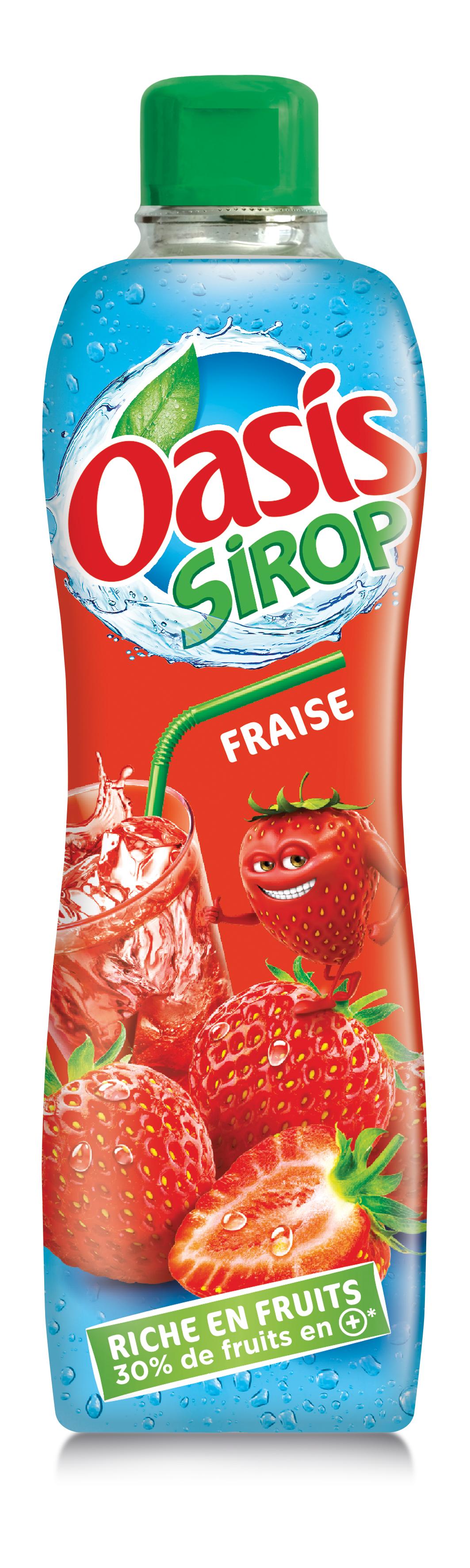 Fraise - Oasis lance sa première gamme de sirops