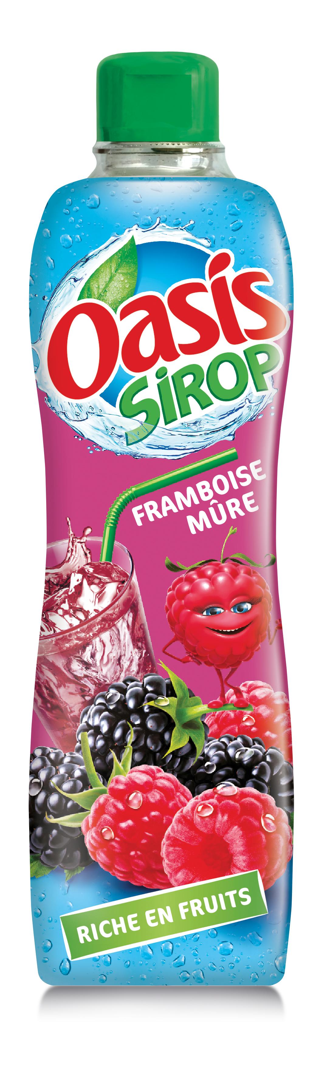 Framboise mure - Oasis lance sa première gamme de sirops