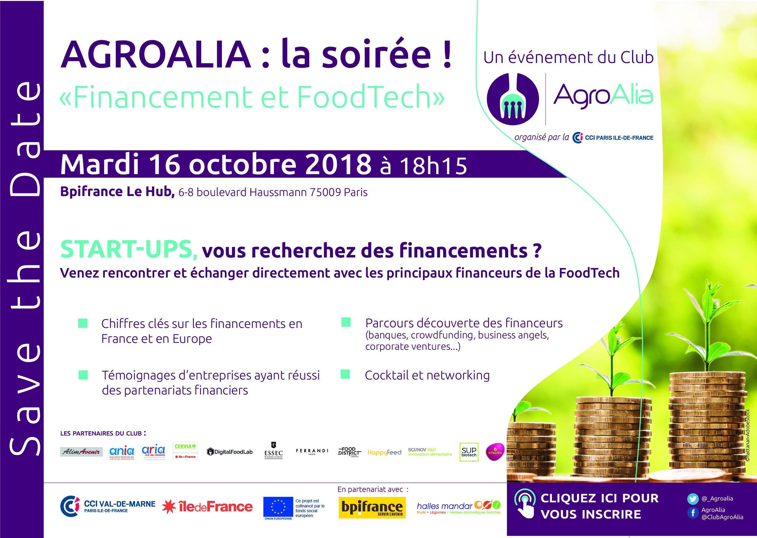 Save the date 2018 format e mailing - Agroalia : soirée Financement et FoodTech