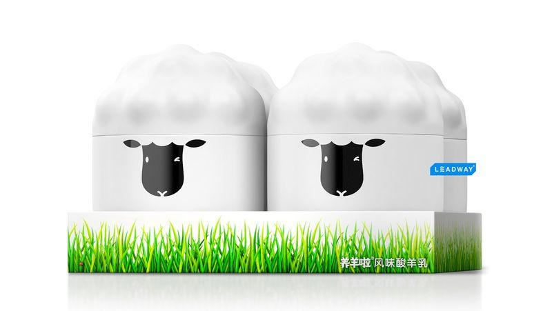 388762 4 800 - Un emballage original pour les yaourts