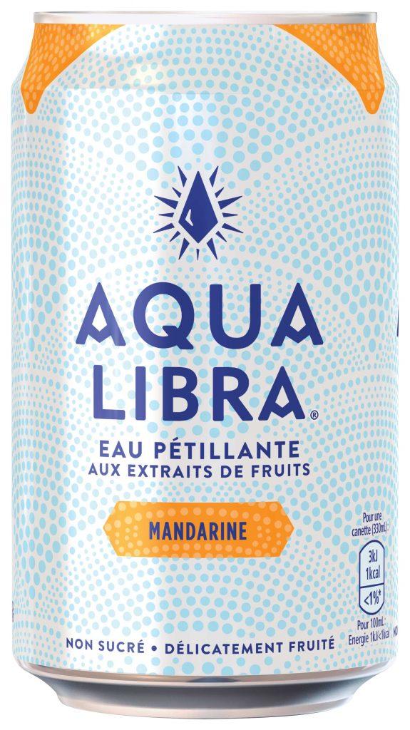 AquaLibra Mandarine 330ml 575x1024 - Aqua Libra, une eau pétillante fruitée sans sucre