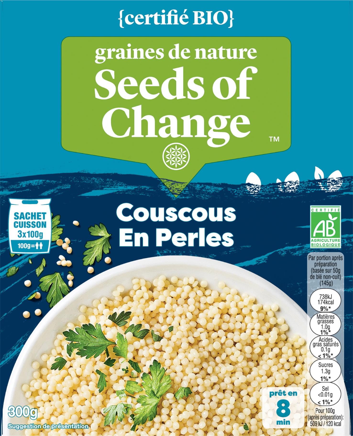 Couscous en Perles - graines de nature - Seeds of Change propose des mélanges de céréales inédits