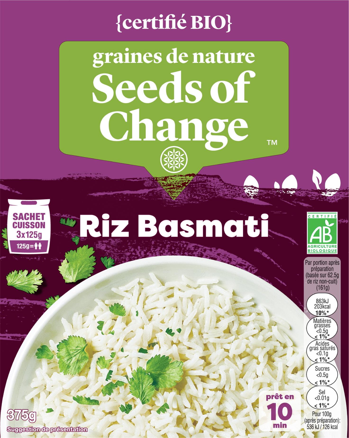 Riz Basmati - graines de nature - Seeds of Change propose des mélanges de céréales inédits