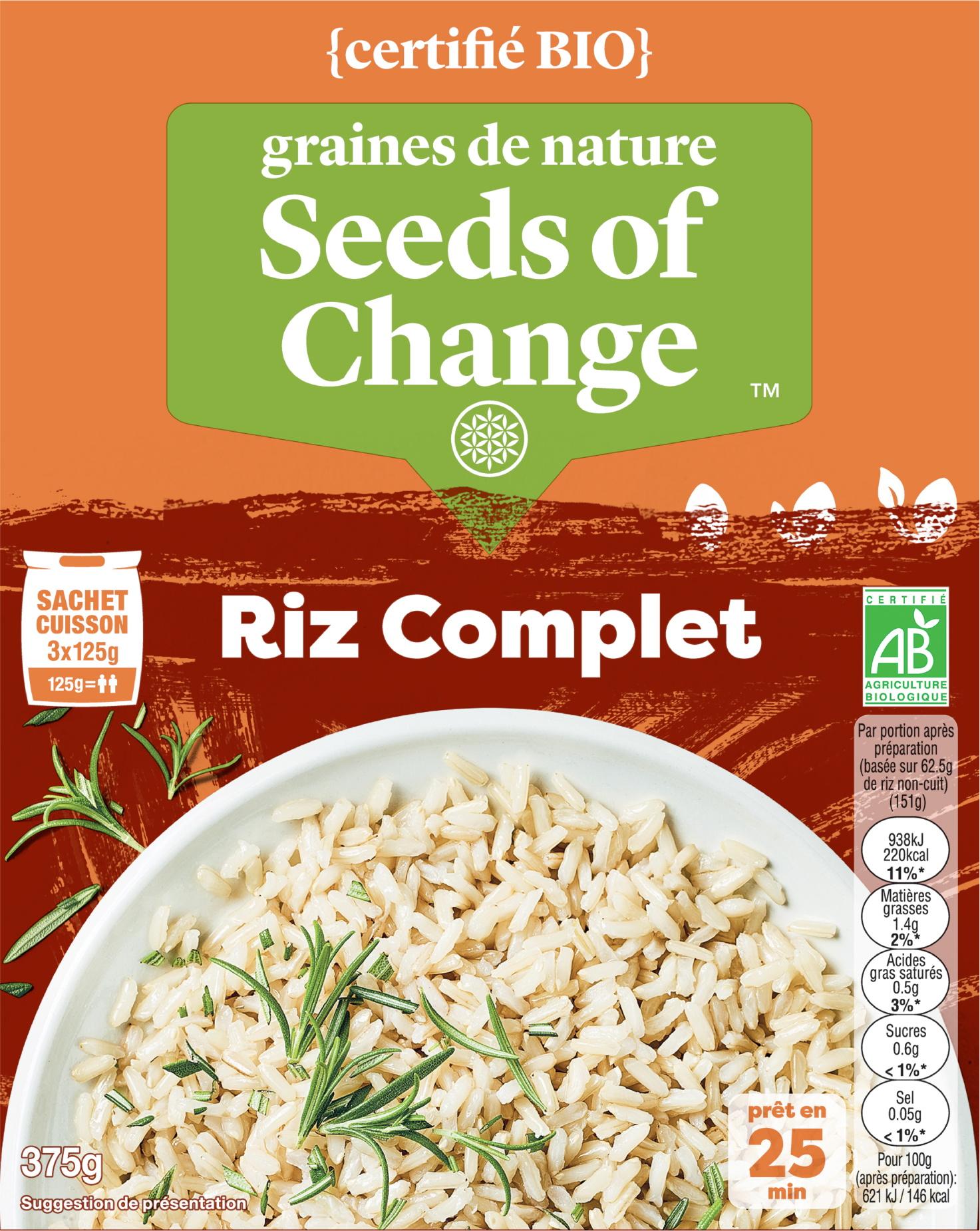 Riz complet - graines de nature - Seeds of Change propose des mélanges de céréales inédits