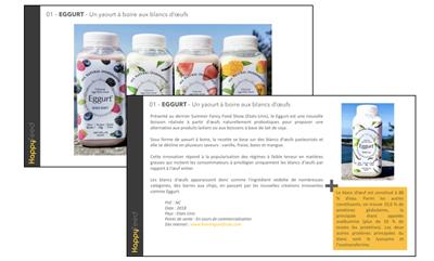 """Veille2 - Dossier thématique : """"Le TOP 100 des innovations alimentaires 2018 décryptées par Happyfeed"""""""