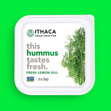 ithaca cold crafted hummus fresh lemon dill - Les 6 nouvelles start-up alimentaires de l'incubateur Chobani