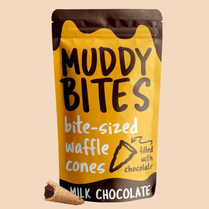 muddy bites - Qui aime croquer le bout chocolaté du cône des glaces ?