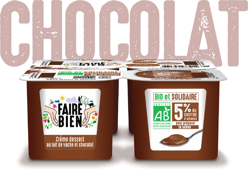 Choco 2 1024x703 - Faire Bien, une nouvelle marque de yaourt bio et solidaire