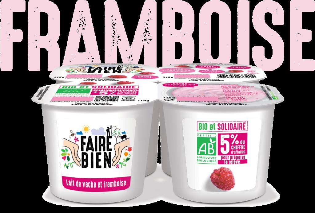 Framboise 2 1024x694 - Faire Bien, une nouvelle marque de yaourt bio et solidaire