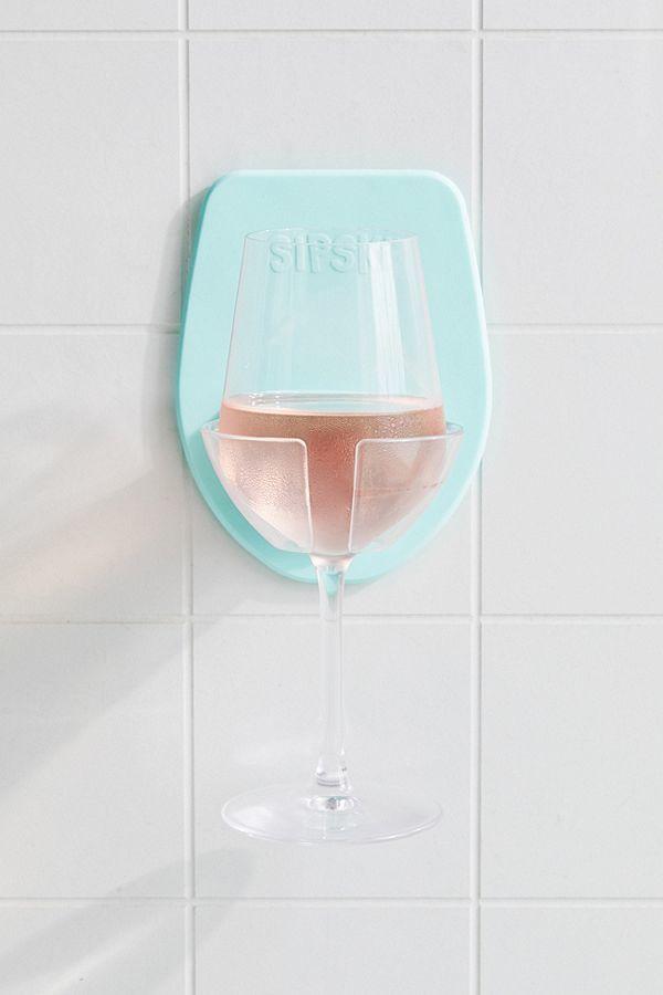 388924 3 800 - Un support pour boire son verre de vin sous la douche !