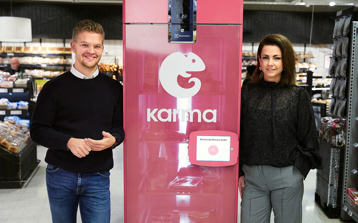 Karma 2 - Un réfrigérateur Karma contre le gaspillage en supermarché