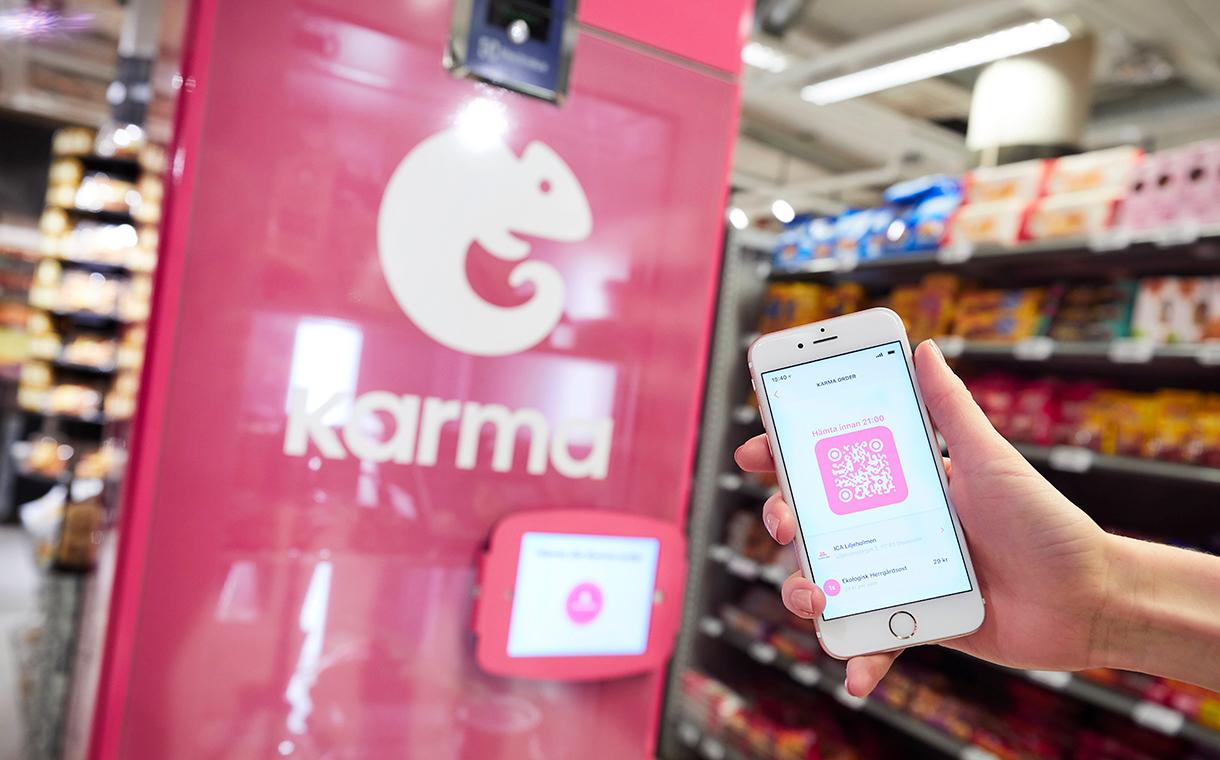 Karma - Un réfrigérateur Karma contre le gaspillage en supermarché