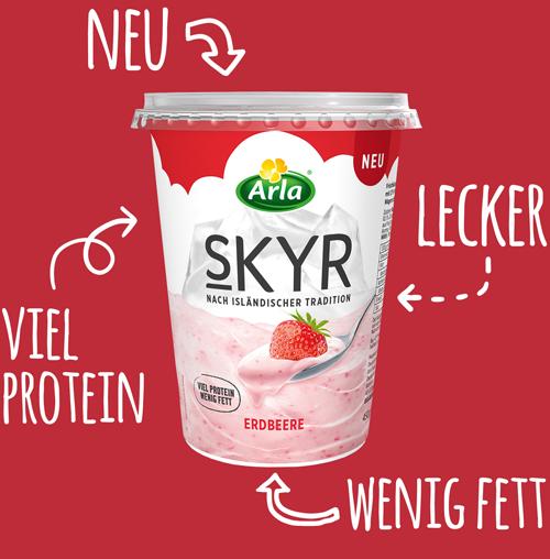 skyr erdbeere neu 2 - Des yaourts au format islandais