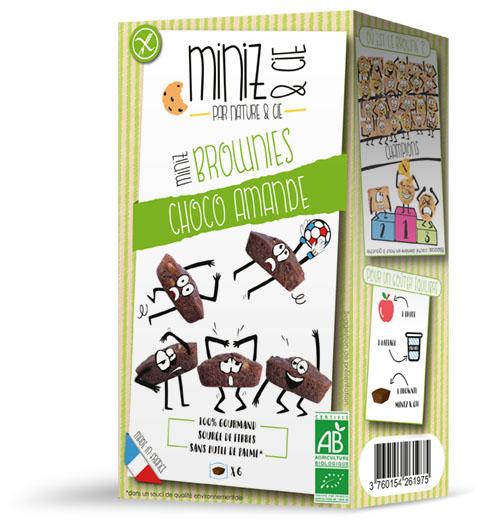 NC09180 Miniz brownies choco amande web - Miniz & Cie : une nouvelle gamme de produits bio et sans gluten, destinée aux enfants