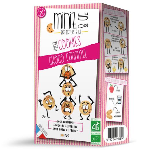 NC13270 Miniz cookies choco caramel web - Miniz & Cie : une nouvelle gamme de produits bio et sans gluten, destinée aux enfants