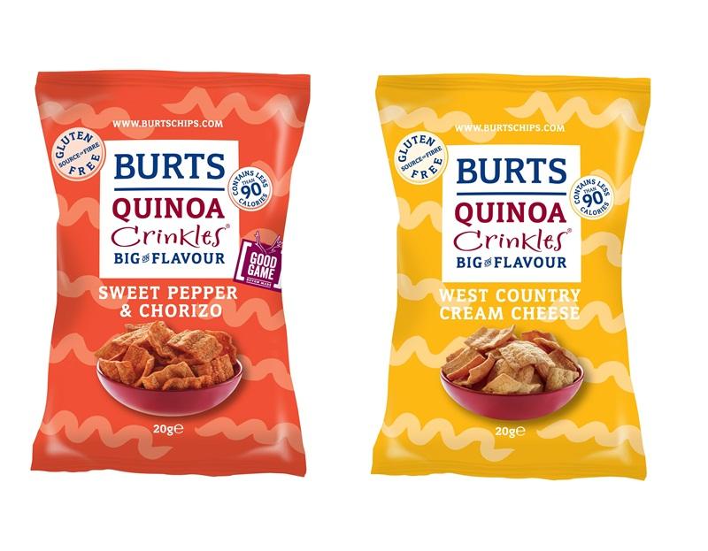 109496 Burts Quinoa crinkles - Des chips de quinoa faibles en calories - Burts