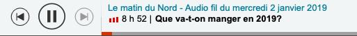 """Capture d'écran 2019 01 02 à 15.45.54 - Intervention dans l'émission """"Le Matin du Nord"""" sur Radio Canada"""