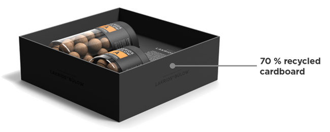 material specification black box - Lakrids by Bülow développe un packaging durable