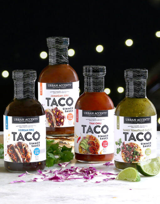 urban accents street taco sauces groupshot 700x895 510x652 - La street-food sans gluten - Urban Accents