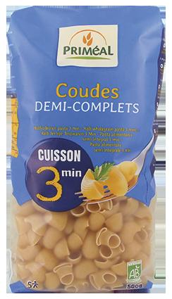 primeal 8728 coudes demi complets cuisson rapide 500g 2019 - Priméal propose de nouvelles pâtes !