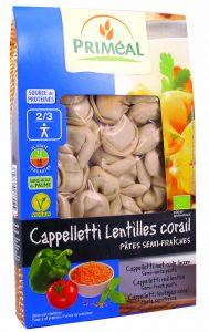 primeal 8770 cappelletti lentilles corail 250g 2019 189x300 - Priméal propose de nouvelles pâtes !