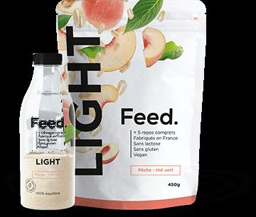 product peach tea - Feed. innove avec un repas complet et léger : Feed. LIGHT