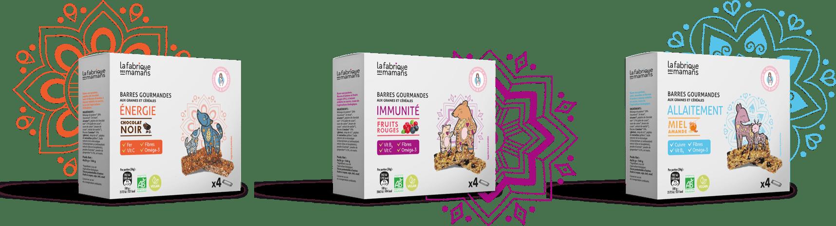 produits min - Des encas sains et gourmands pendant la grossesse avec La Fabrique des Mamans