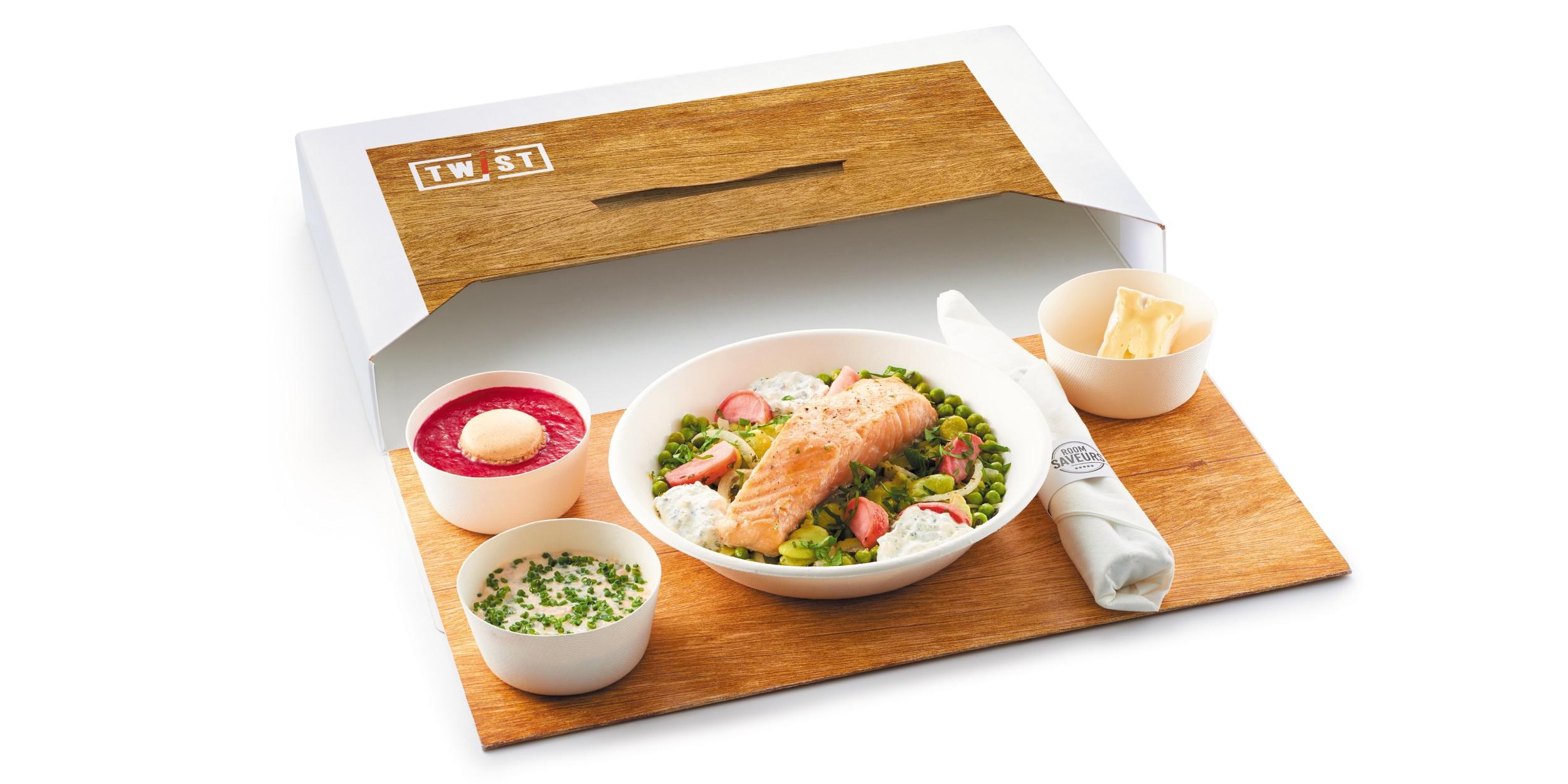 PE19 TWIST PACK OUVERT - ROOM SAVEURS lance la nouvelle génération de coffret repas écoresponsable zéro plastique
