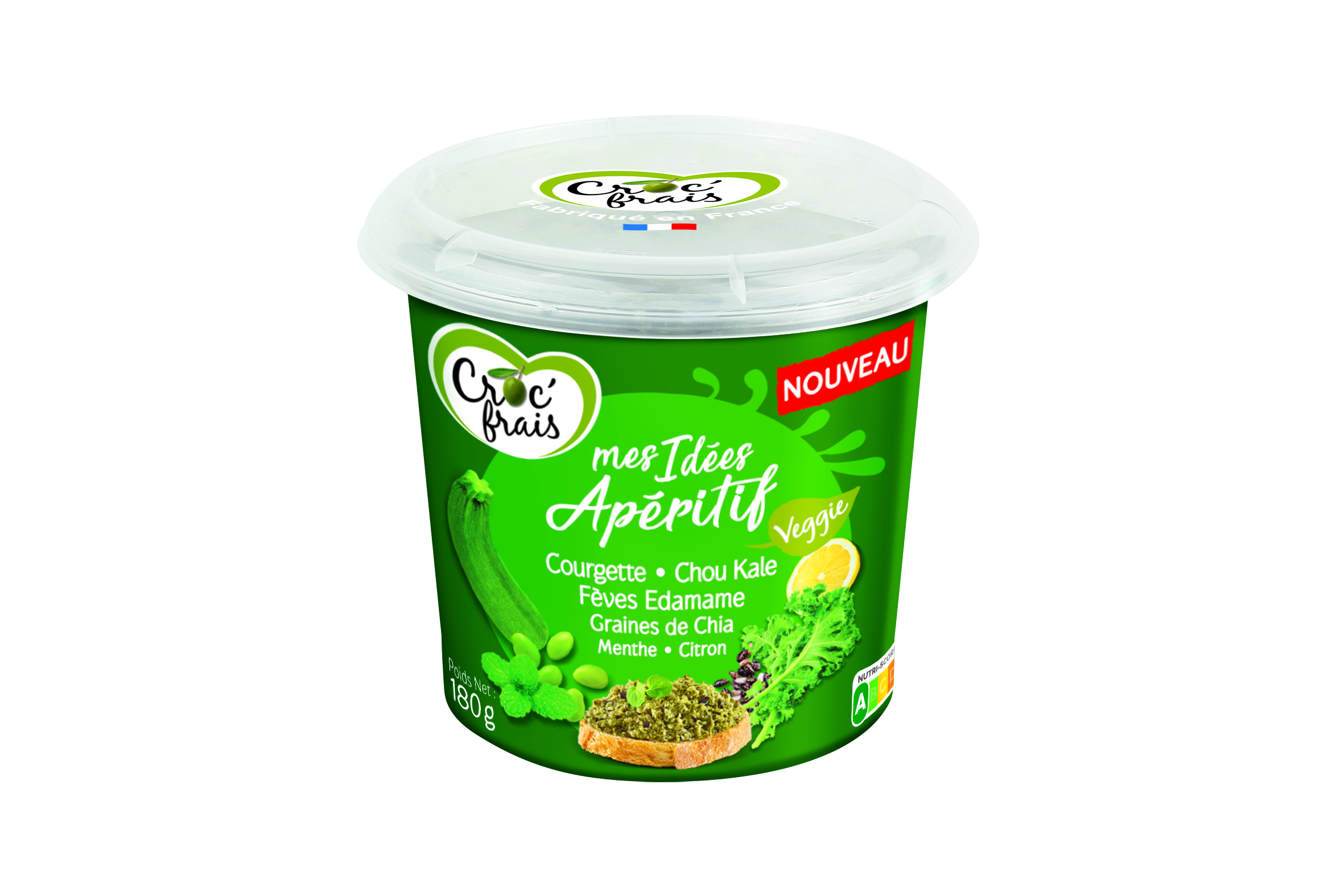 Pack vert - Croc'Frais innove avec une gamme de tartinables végans