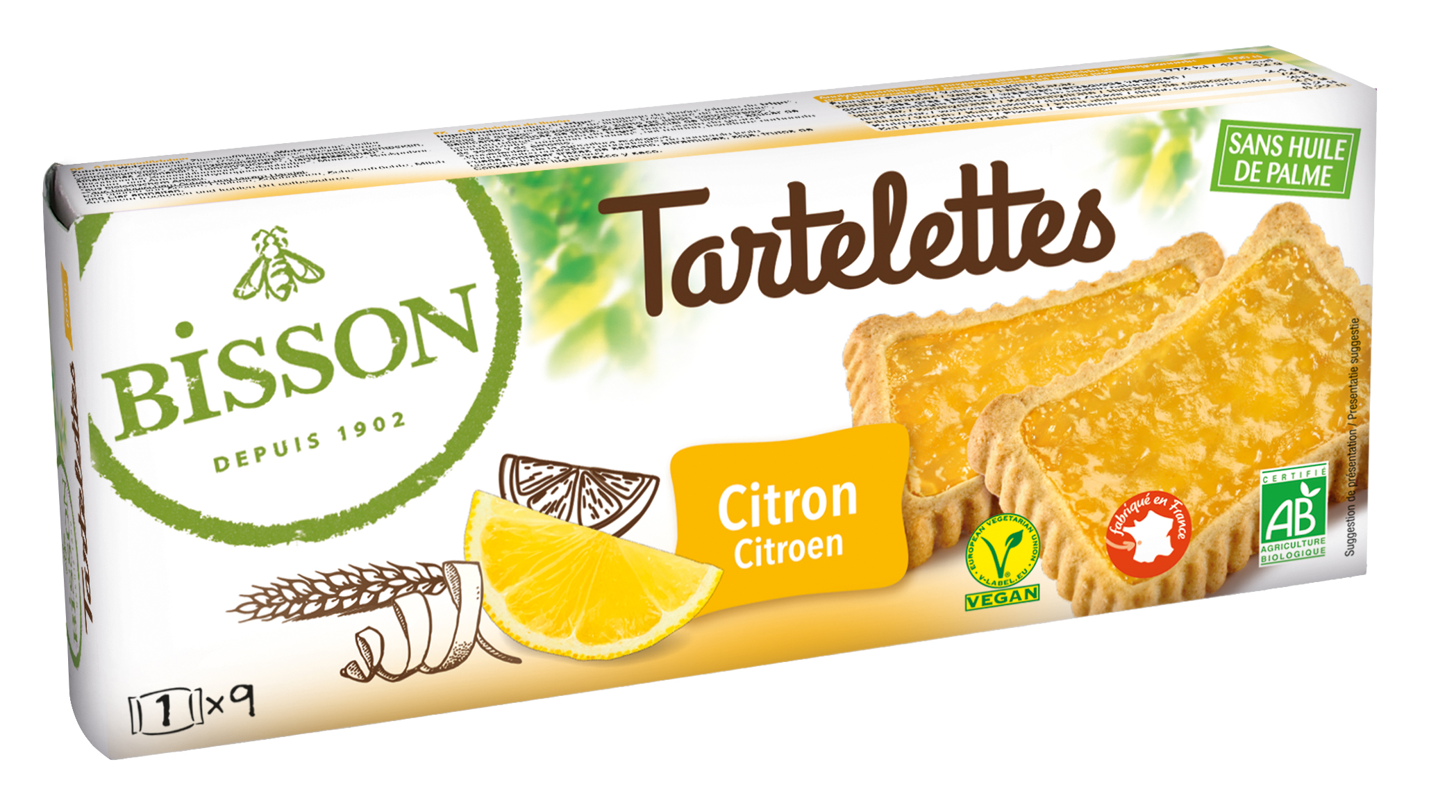 bisson 8665 tartelette citron 2018 - Bisson lance une nouvelle gamme de biscuits bio