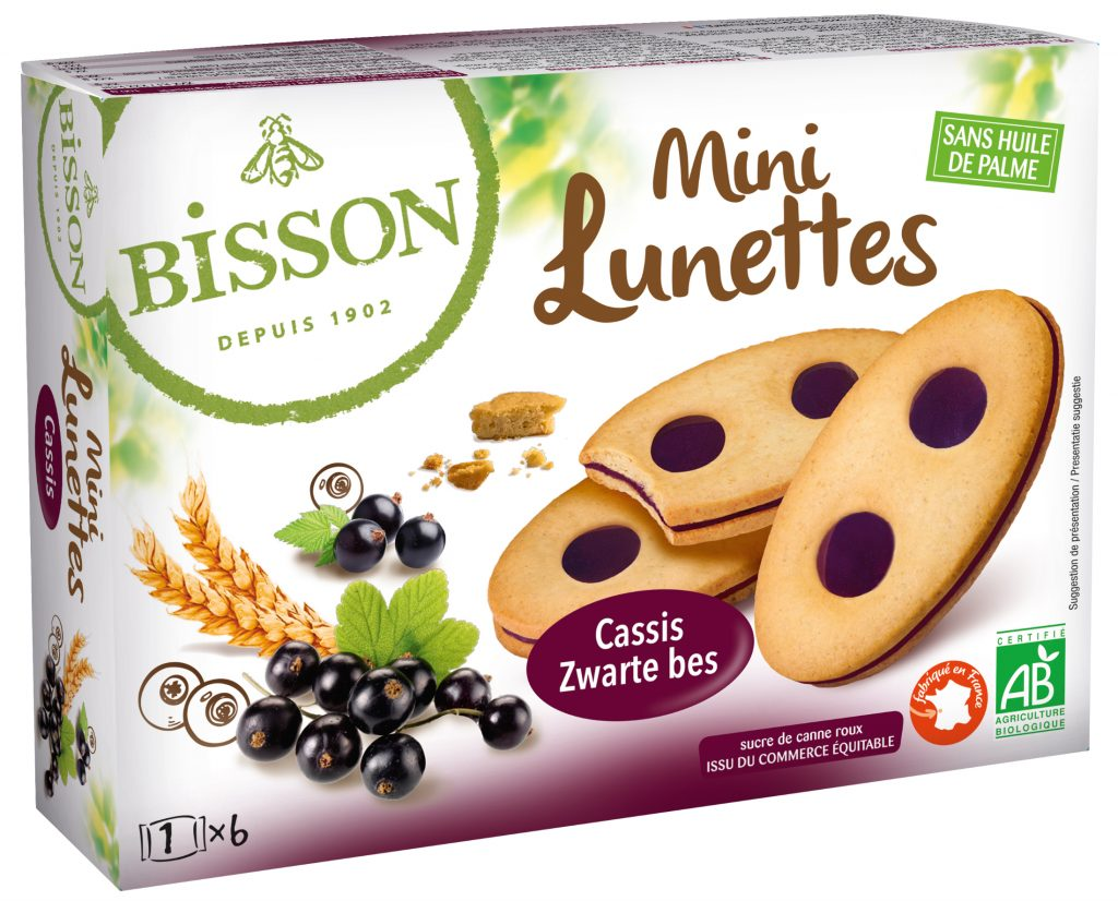 bisson 8745 mini lunettes cassis nov 2018 1024x826 - Bisson lance une nouvelle gamme de biscuits bio