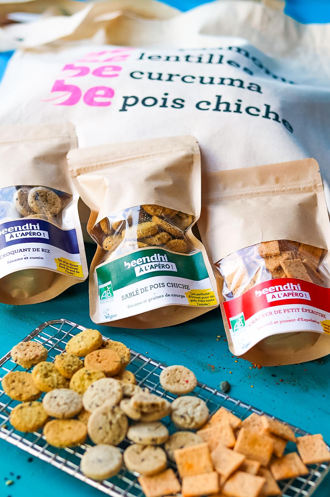 c est l heure de l apero  - Des biscuits bio gourmands par Beendhi