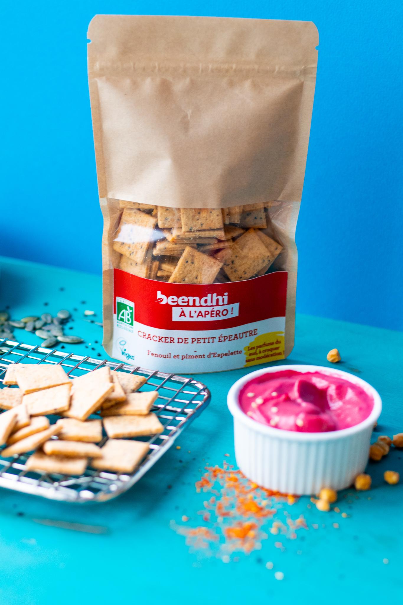 cracker de petit epeautre fenouil et piment d espelette 90g bio - Des biscuits bio gourmands par Beendhi