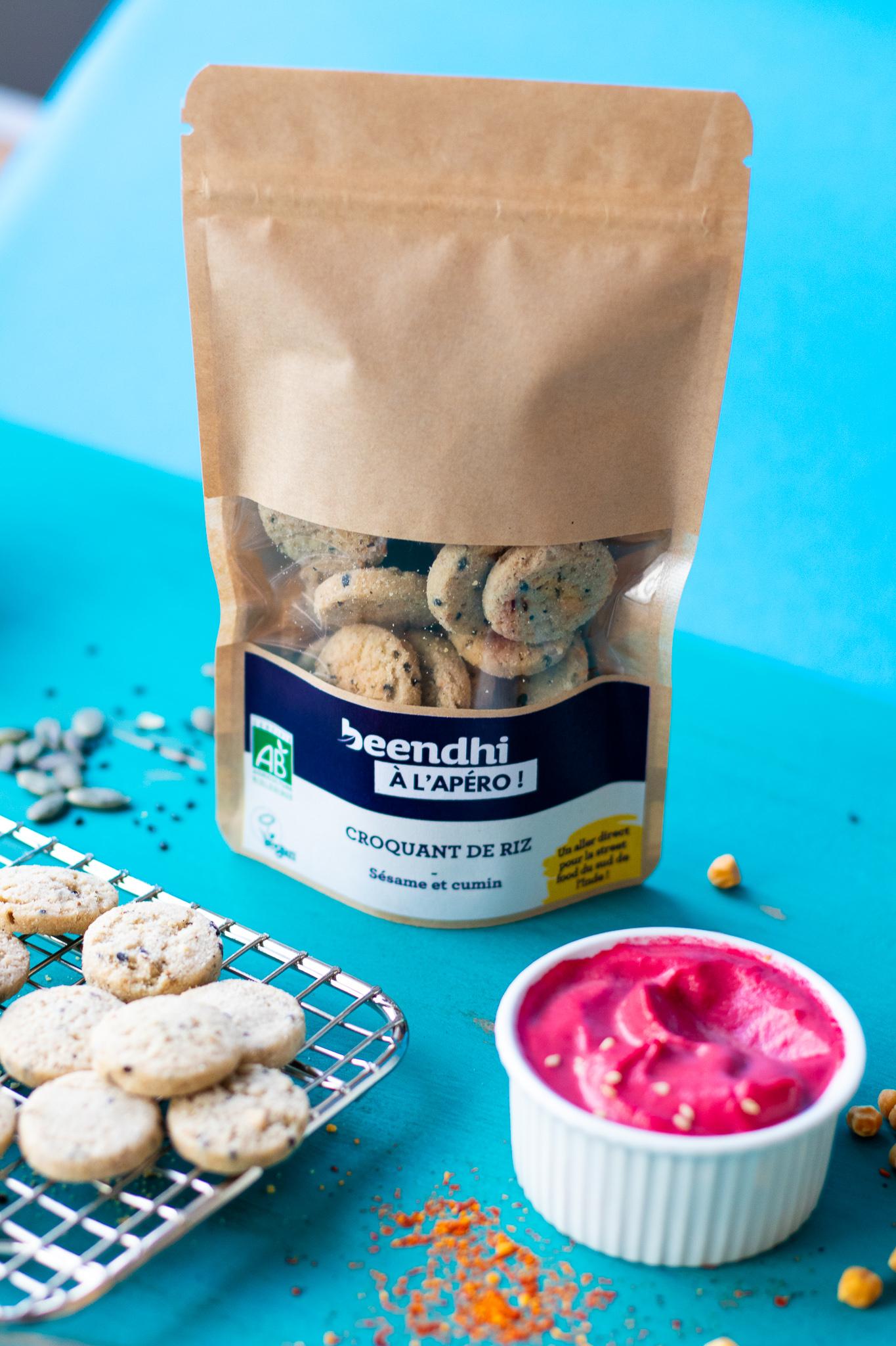 croquant de riz sesame et cumin 90g bio - Des biscuits bio gourmands par Beendhi