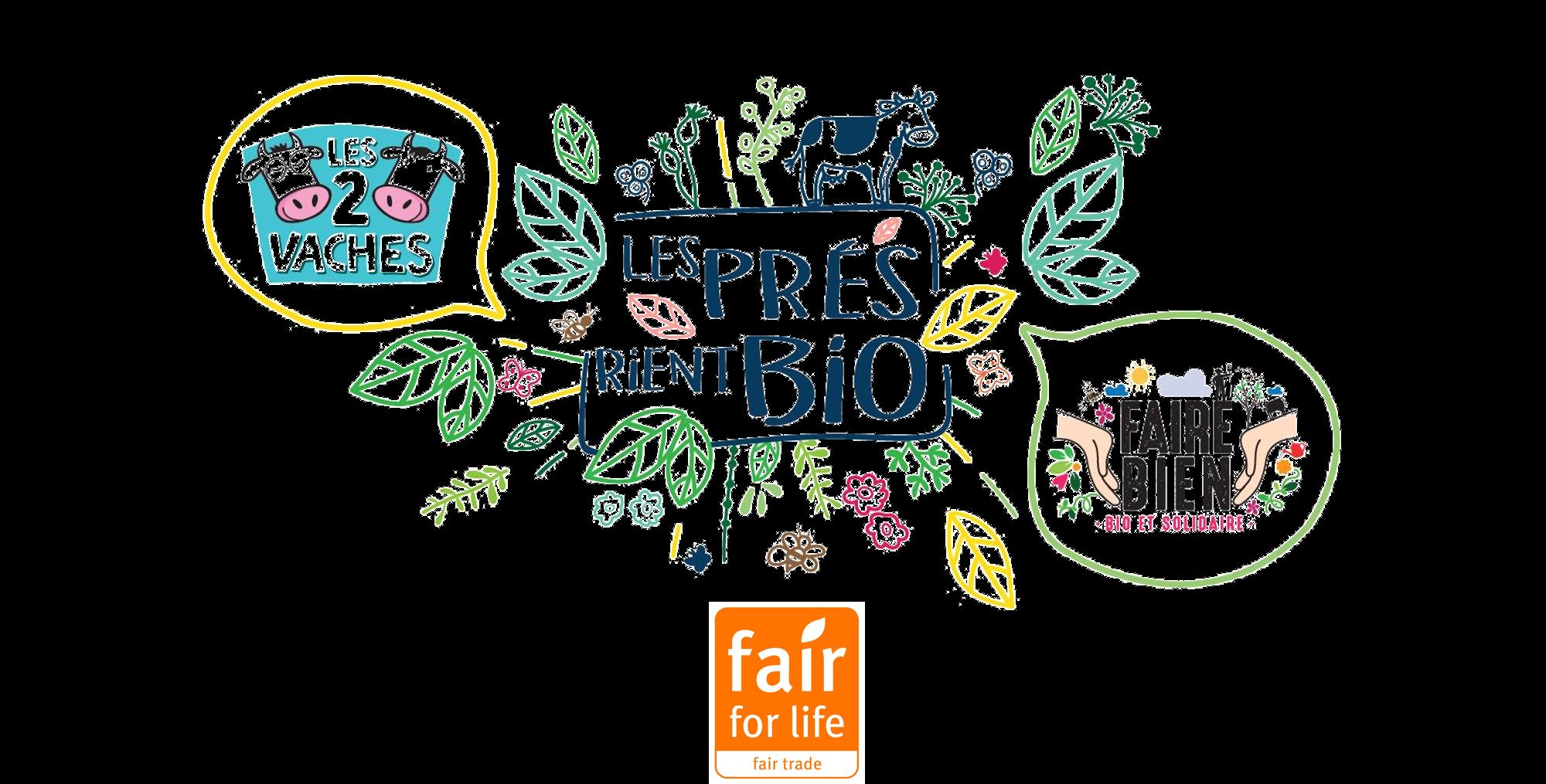 0 - Un label équitable, Fair For Life, pour les marques Les 2 Vaches et Faire Bien