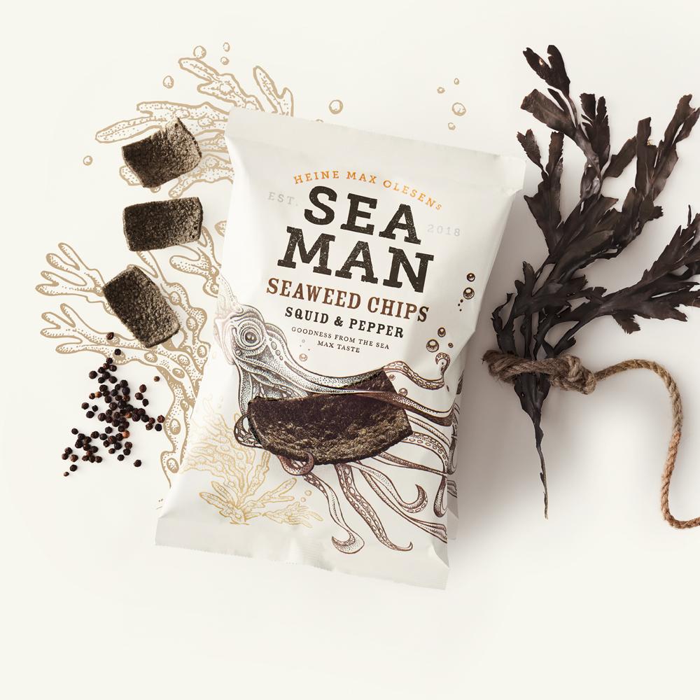 Seaman Squid Pepper NEW - Des chips de la mer danoise