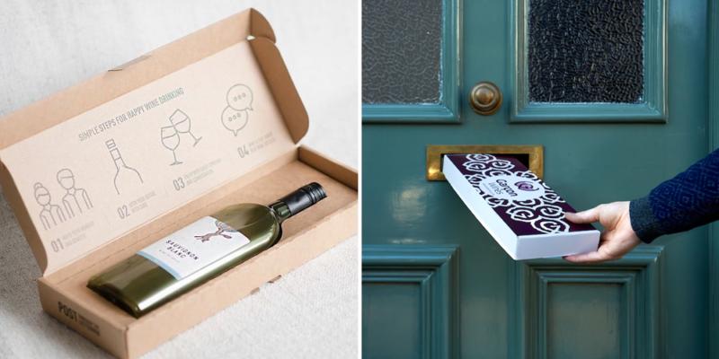 garcon wines bouteille de vin plate transport lettre 800x400 - Une bouteille de vin pour boîte aux lettres