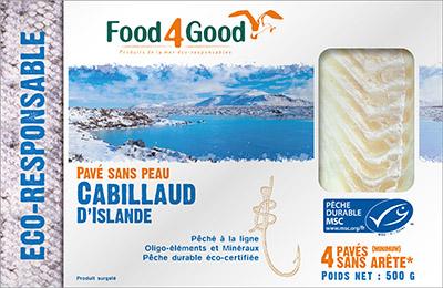 pack cabillaud islande 400 - Food4Good inaugure une nouvelle filière Islande à la pointe de la durabilité