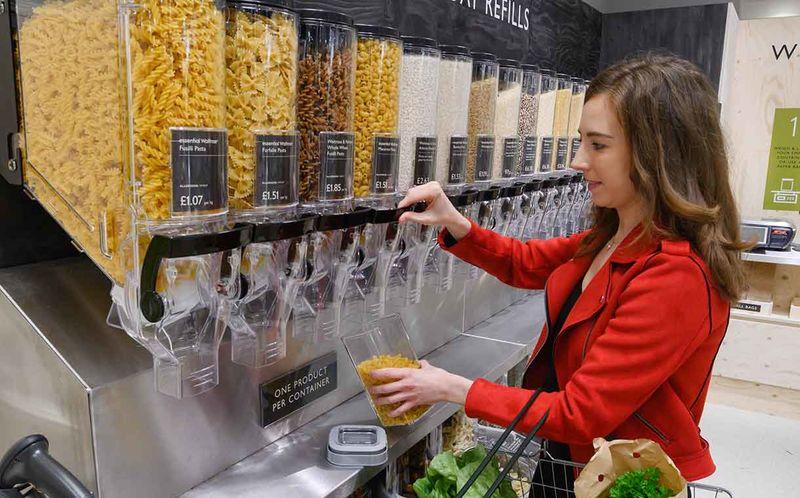 packagingfree products - Waitrose teste un magasin sans emballage en Angleterre