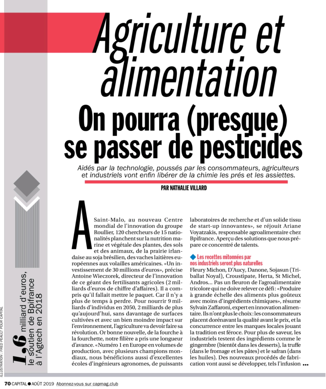 "Capture d'écran 2019 07 18 à 23.36.56 - Intervention dans le dossier ""Agriculture et alimentation"" du magazine Capital"