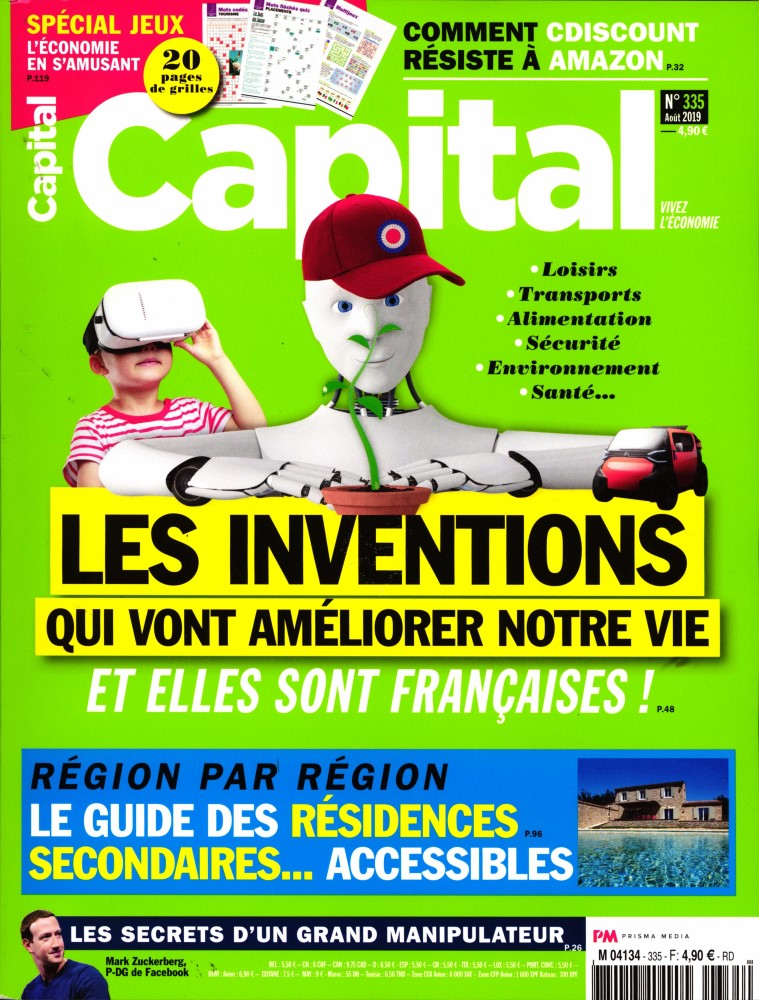"M4134 cache 335s292019 - Intervention dans le dossier ""Agriculture et alimentation"" du magazine Capital"